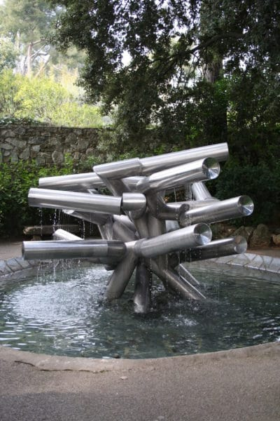 les jardins et ses sculptures