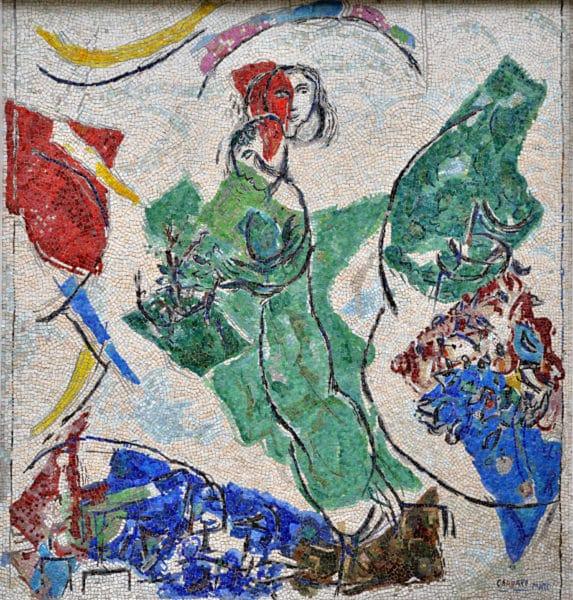 Marc Chagall Les Amoureux 1964-65 - Archives Fondation Maeght - ADAGP-Chagall Photo Roland Michaud