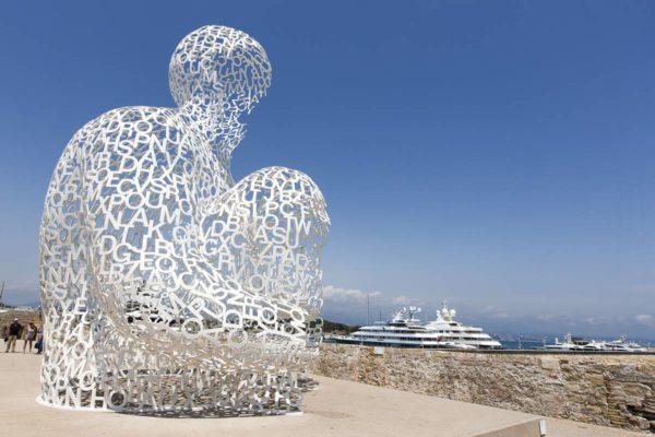 Le Nomade de Jaume Plensa, Antibes, GILLES LEFRANCQ, office du tourisme et des Congrès