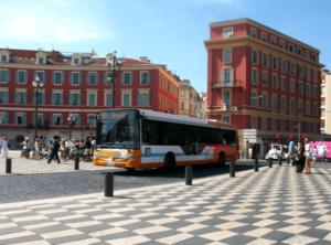 Bus place Masséna - Régie Lignes d'Azur