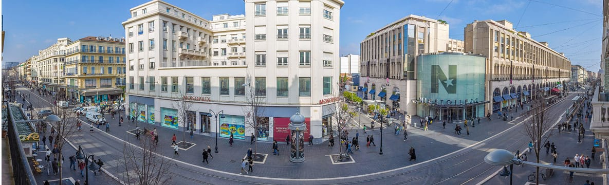 Rues commerçantes de Nice