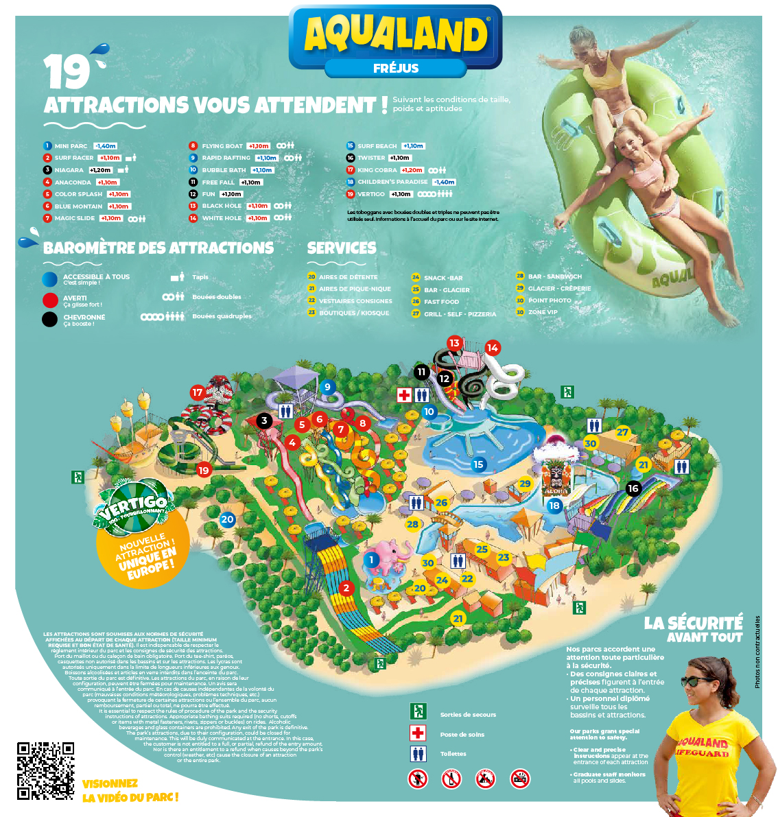 Plan du parc aquatique