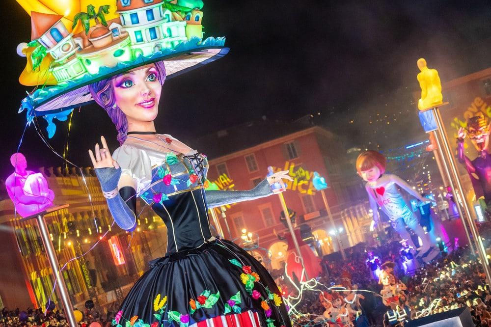 Photo de la Reine du Carnaval de Nice