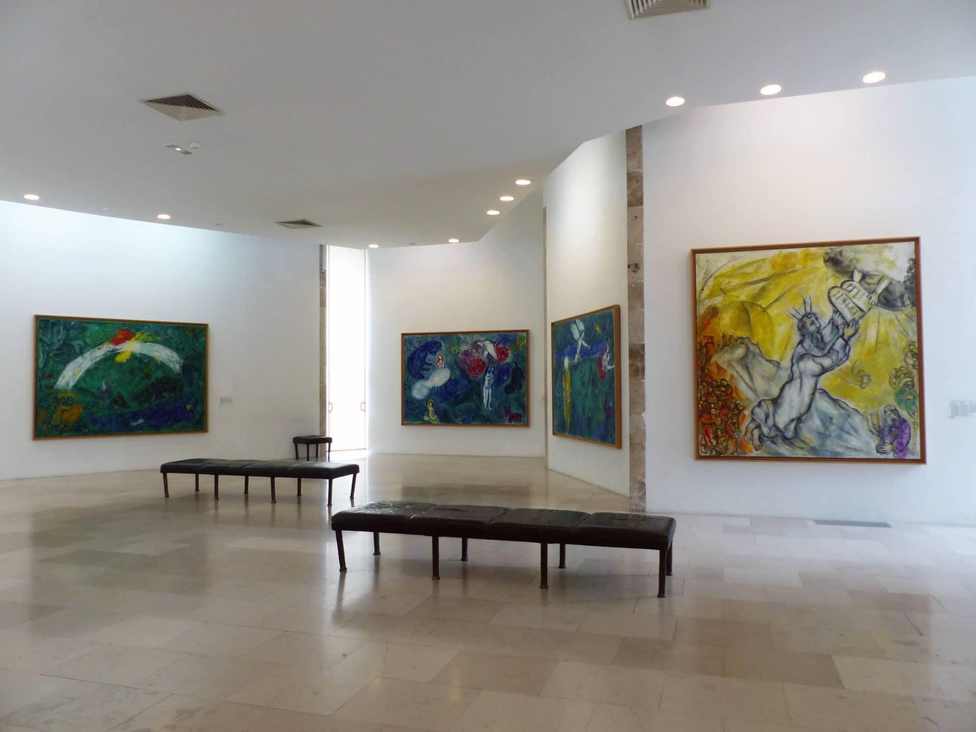 Photo de l'interieur du Musée Marc Chagall de Nice
