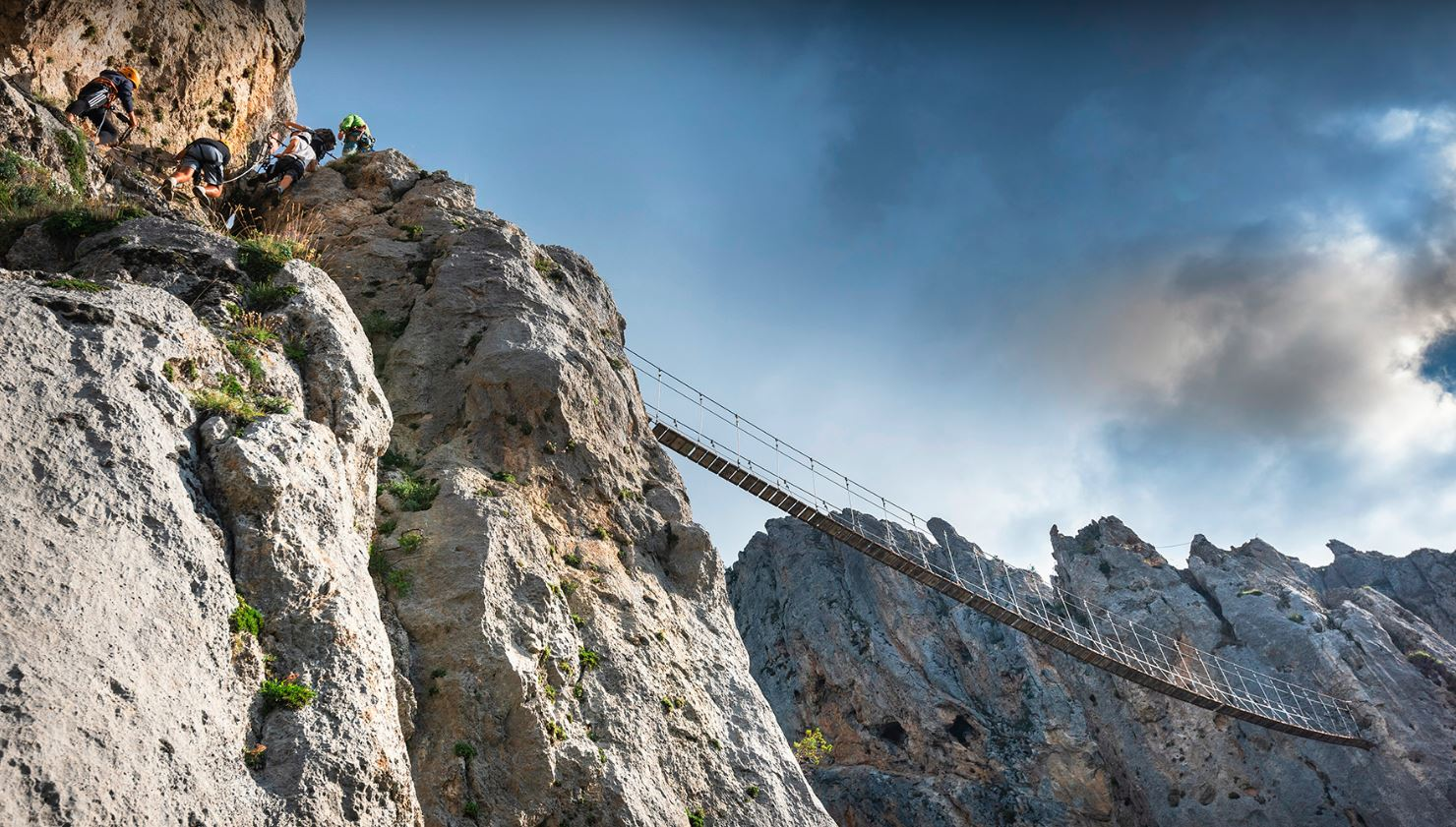Via Ferrata de La Colmiane Passerelle Suspendue
