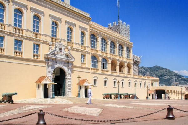 Monaco, Monaco-ville- May 07, 2013: Prince's Palace of Monaco is official residence of Prince of Monaco. Built in 1191 as a Genoese fortress.