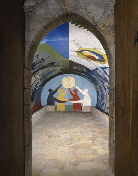 Peinture sur ur de Picasso Guerre et paix