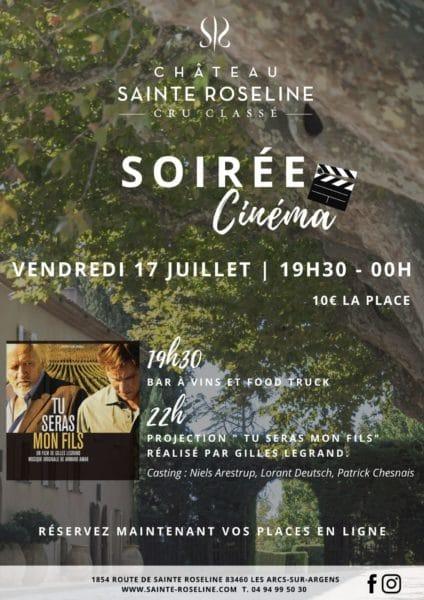 Château Ste Roseline - AFFICHE SOIREE CINEMA