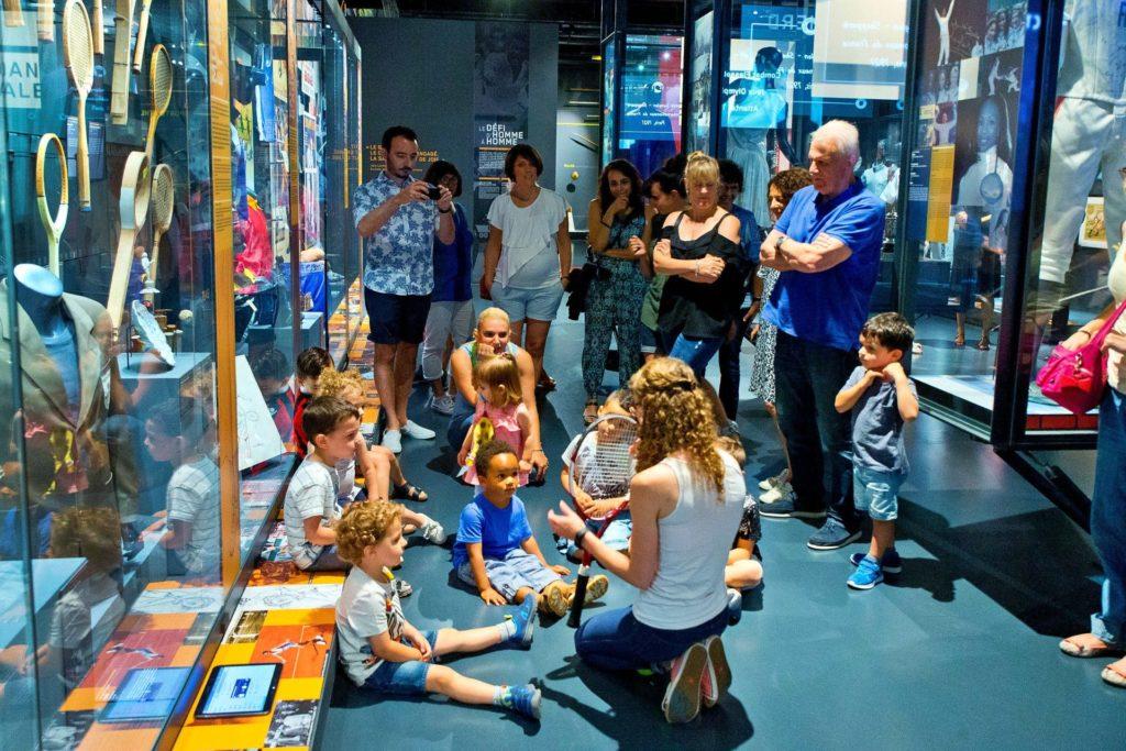 Photo exposition MNS pendant les contes-gigoter Musée National du Sport