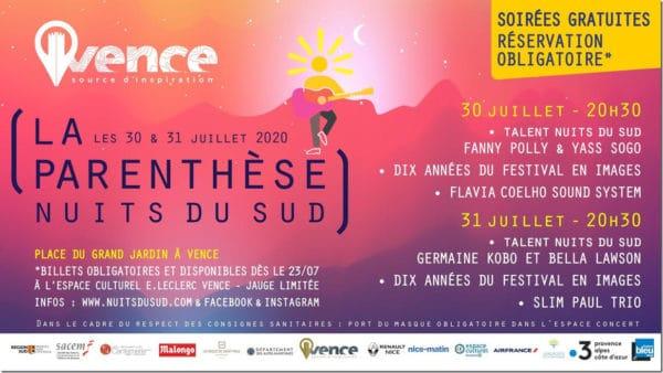 Vence - La Parenthèse - Nuits du Sud