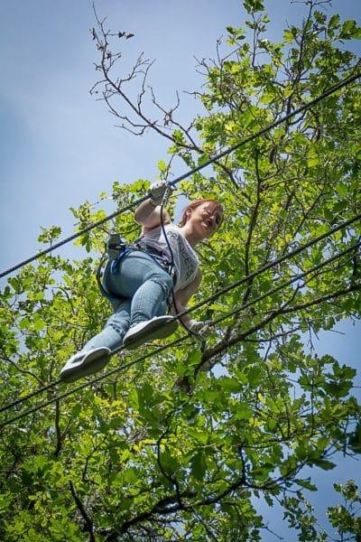 L'aventure dans les arbres au parc Aoubré
