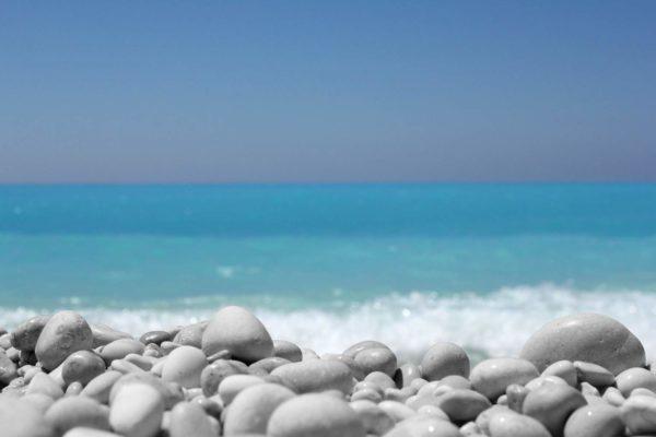 Photo de la plage de galet de nice