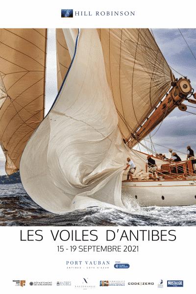 Affiche Les voiles d'Antibes 2021
