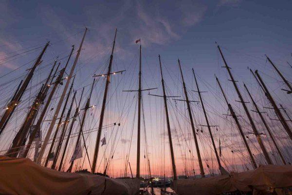 Coucher de soleil Voiles de Saint Tropez