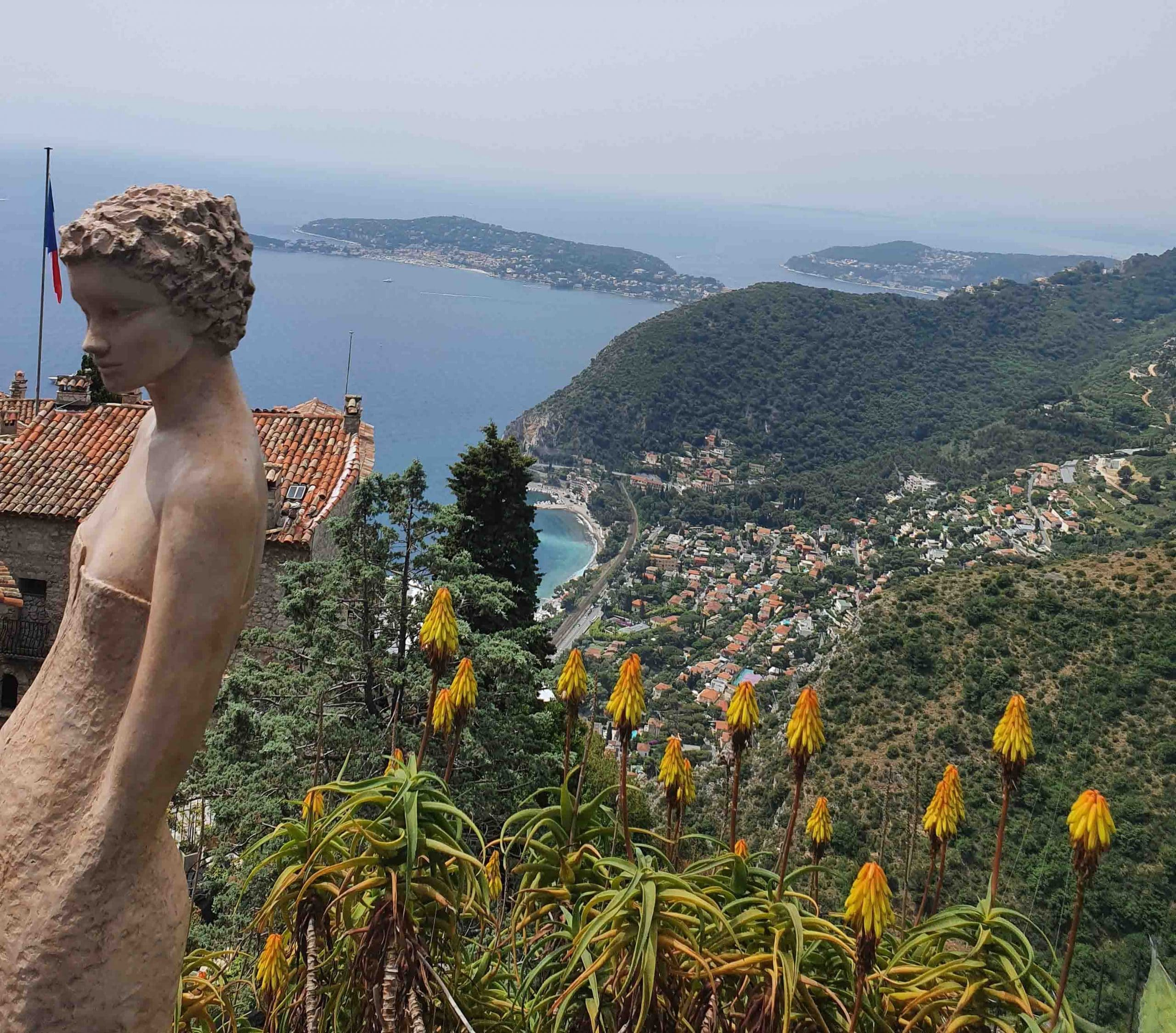 Garden of Eze and the statues of Jean-Philippe Richard