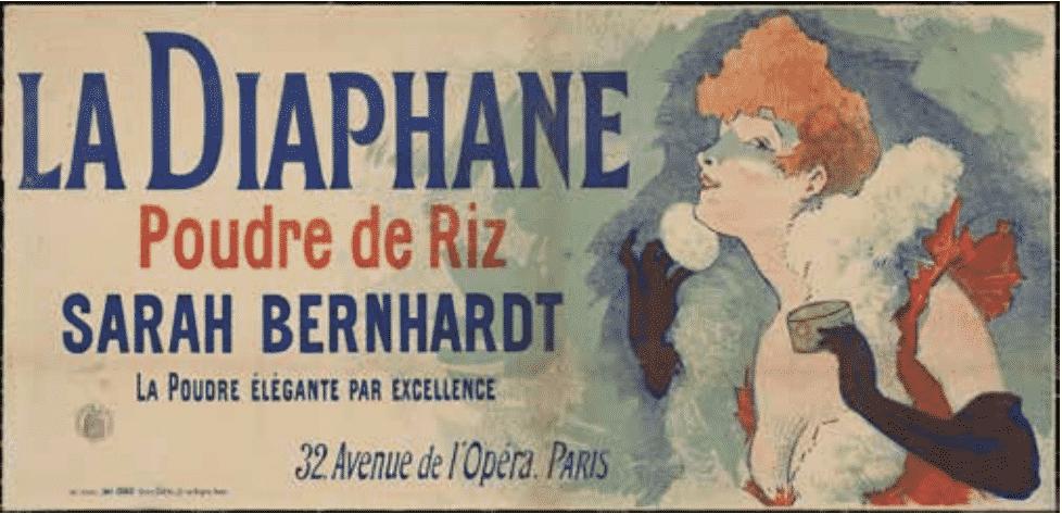 Affisch La Diaphane, La poudre de beauté och dess fall