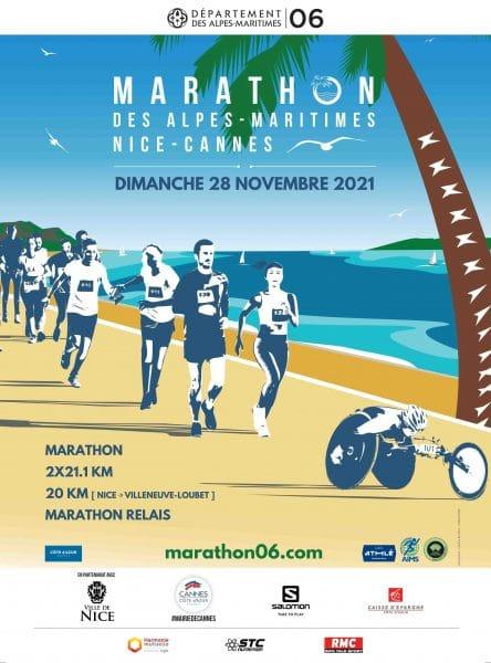Affiche Marathon Nice Cannes 2021