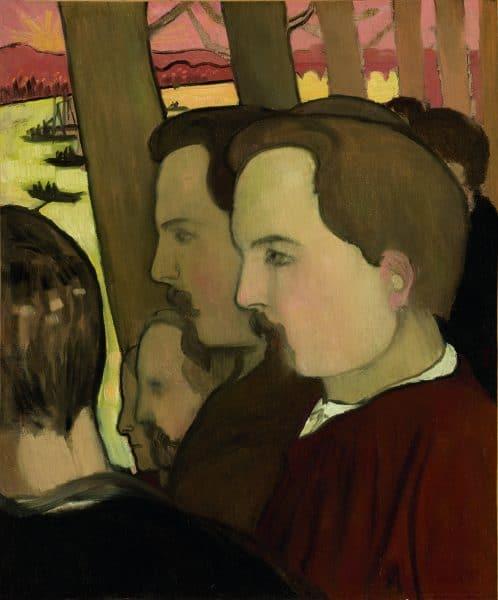 Maurice Denis, Double autoportrait de profil, 1894 huile sur toile, 46,5x39 cm Collection particulière © droits réservés © Catalogue raisonné Maurice Denis