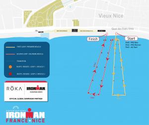 Ironman Nice parcours swim, nage 2021
