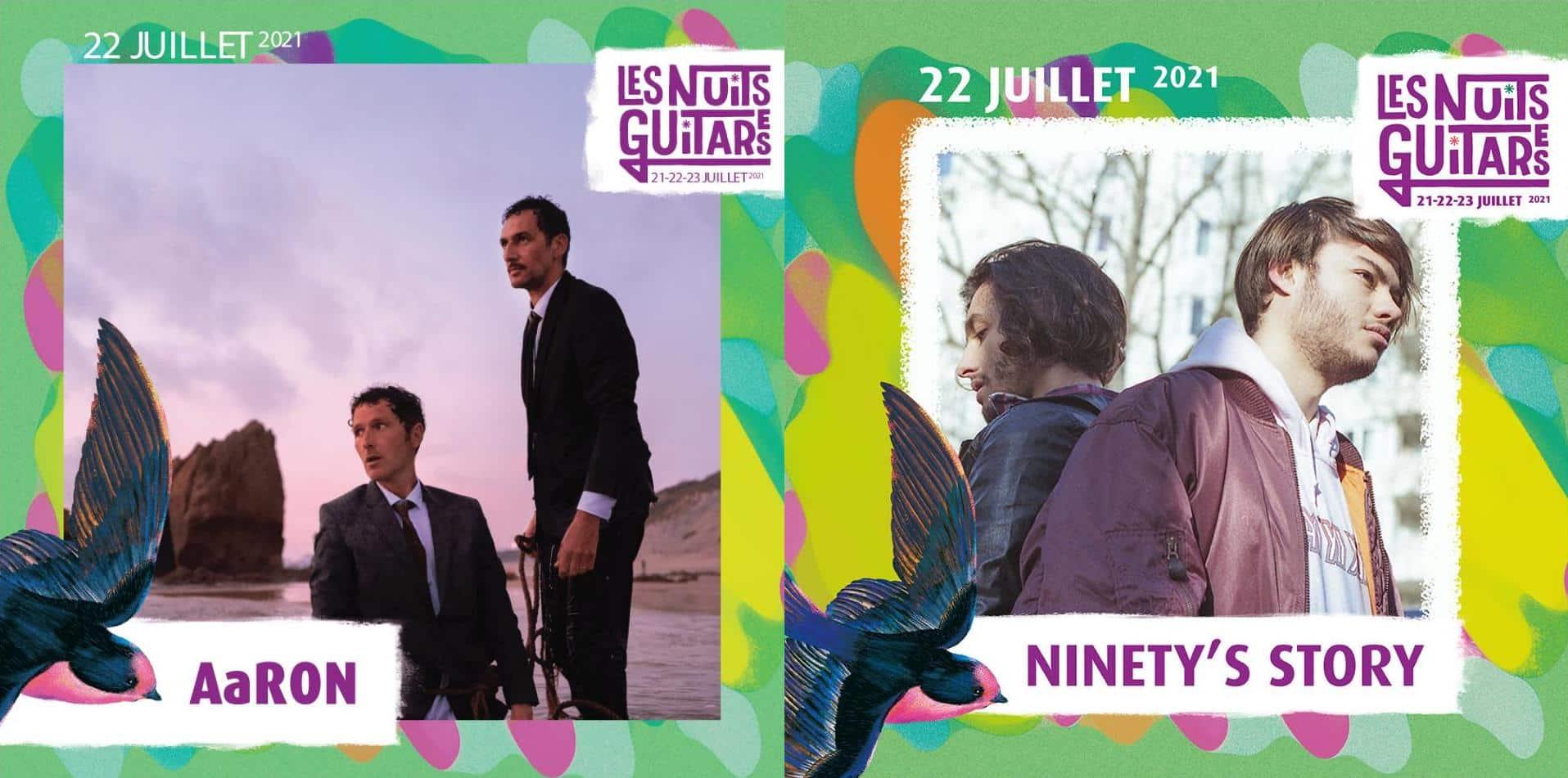 Aaron et Ninety Story Visuel Festival Nuits Guitares